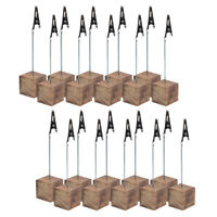 20PCS Wood Clip Stand Table Number Holder Party Wedding Name Card Memo Note