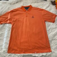 Tommy Hilfiger Golf Mens Size XL Orange Comfort Dry Short Sleeve Polo Shirt EUC