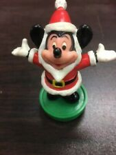 Vintage Mickey Mouse In Santa Suit Christmas Rubber Stamp Ho! Ho! Ho!