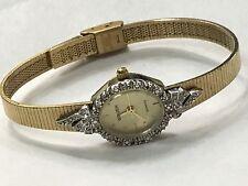 Vintage Gruen  Diamond Ladies Quartz Wrist Watch Very Elegant  (GR4655)