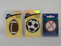 Wrights Fabric Iron-On Appliques - New - Sports