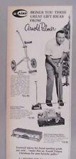 Arnold Palmer Putting Trainer PRINT AD - 1966 ~Electric w Ball return, Golf Cart