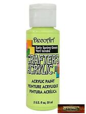 M01437a Morezmore DecoArt Early Spring Green Crafter's Acrylic Craft Paint A60