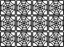 Spider Web Nail Art Vinyl Decal Sticker #Stencil Template Stamping DIY