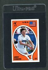 1980s Panini Supersport #201 Jimmy Connors USA NM Il Magnifico Album Tennis