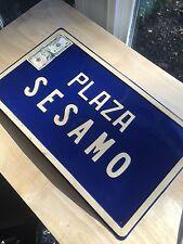 Vintage 70's PLAZA SESAMO - SESAME STREET Enamel Stage Set Prop Sign Jim Henson