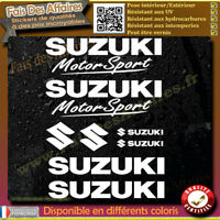 10 Stickers Autocollant Suzuki MotorSport sponsor lot planche sticker