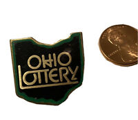 Vintage Ohio Lottery Lapel Pin Gold Tack