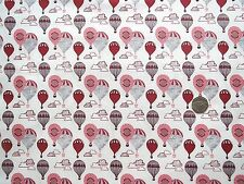 Head in the clouds Balloons red fabric fat quarter 50x56 cm FF161-3 100% Cotton