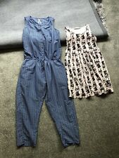Age 10 Next Playsuit and H&M dress