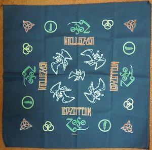 "Mint 1995 Winterland Led Zeppelin 21"" X 21"" Bandana Icarus and Four Symbols"