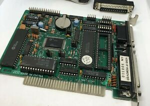 8-Bit ISA I/O Card Floppy Controller Serial Parallel Game Port Clock XT PC AS-IS