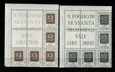 Francobolli della Repubblica italiana dal 1956 al 1964 blocco