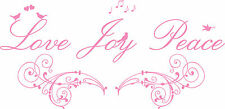 Love Joy Peace Quote, Wall Art Sticker Decal Mural, Lounge, Bedroom, Home Decor