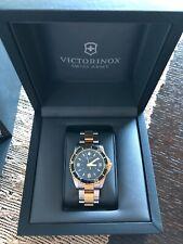 Victorinox Swiss Army Women's Maverick Blue Dial Watch 241790 Midsize Gold