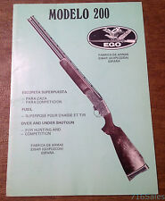 Vtg Armas EGO Eibar, Spain Model 200 Over & Under Shotgun Instruction Manual