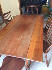 Dining room table,cherry, with 6 chairs no cuts or marks