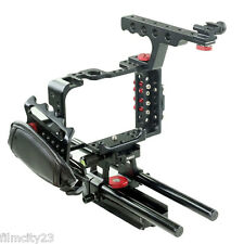DSLR 15mm Video Cage Top Handle Grip Leather Strap Cage For Sony A7S Camera New