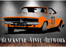 """DODGE CHARGER GENERAL LEE TWO COLOUR LARGE DECAL WALL ART 23"""" X 54"""""""