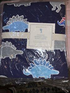 Pottery Barn Kids Dino Dinosaur Organic Dempsey Duvet Cover Blue Twin