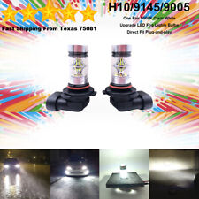 H10 9145 9005 LED Fog Driving Light Bulbs Kit Canbus Lamp 35W 6000K Clear White