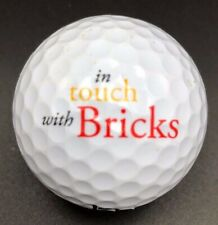 In Touch With Bricks Logo Golf Ball (1) Srixon Ad333 Preowned