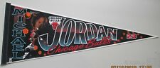 VINTAGE MICHAEL JORDAN PENNANT CHICAGO BULLS WINCRAFT 12X30 NEW NO PIN HOLES