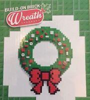 BUILD ON BRICK HOLIDAY CHRISTMAS WREATH w BOW COMPATIBLE MEGA BLOKS K'NEX NEW