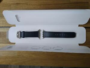 Apple watch leather strap 42mm genuine series 3 - midnight blue classic buckle