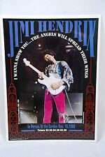 Jimi Hendrix at The Garden 11/16/68 ~ 1996 Poster