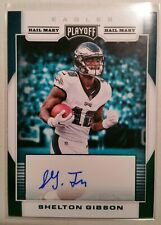 2017 Playoff Shelton Gibson hail mary rookie auto Philadelphia Eagles