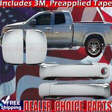 2007-2017 TUNDRA Double/Extended Cab Chrome Door Handle COVERS Overlay Trims 4DR