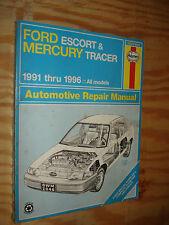 1991-1996 FORD ESCORT MERCURY TRACER SHOP MANUAL SERVICE BOOK 97 96 95 94 93