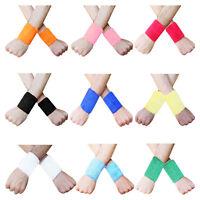 "Sweat Wrist Band 3.5"" inch Sport Aerobics Wristbands Multi Colors Pair"