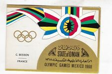 1968 olympic games mexico,gold foil,on official souvenir booklet    h1810