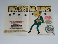 The Simpsons Who Shot Mr. Burns? Season Premiere Promo Brochure Poster 1995