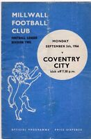 MILLWALL V COVENTRY CITY DIVISION TWO 5/9/66