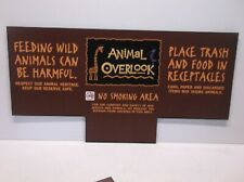"Disney Animal Kingdom ""No Feeding/No Smoking"" Vinyl Sign - Measures 6.25"" x 12"""
