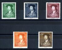 Sellos de España 1952 1106-1110 Fernando el Catolico sellos nuevos ref.02