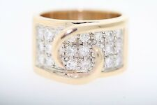 14k Yellow Gold 1.25ctw Round Diamond 8mm Semi-Mount Ring (F, VS2) Size 7