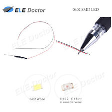 10pcs 100pcs 0402 0603 0805 1206 SMD LED Warm White Red Blue DC9-12v Pre-wired