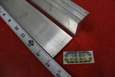 "4 Pieces 3/8"" X 2"" ALUMINUM 6061 FLAT BAR 14"" long T6511 Solid Mill Stock"