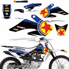 Decal Graphic Kit Honda CRF 70/80/100 CRF70 MX Bike Wrap w/Backgrounds CRF70 RS