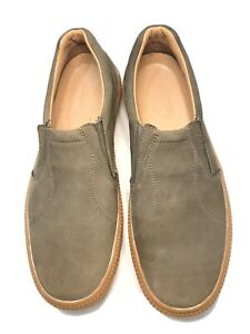 TOMMY BAHAMA Men's  Almond Nubuck Leather Slip On Size 9.5M EUC $150