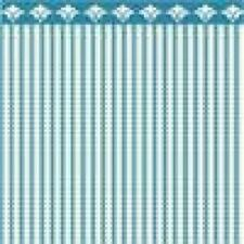 Dollhouse Miniature - 1:24 Scale Wallpaper - BPHAM101B - Ticking - Blue