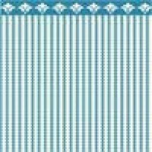 Dollhouse Miniature - 1:24 Scale Wallpaper - BPHAM101B - Ticking - Blue