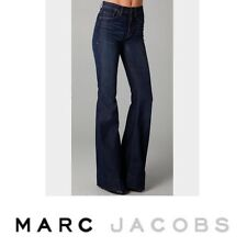 Pre-Owned, MARC by MARC JACOBS, Women's Blue 70s Flare Jeans in Dark Green Wash