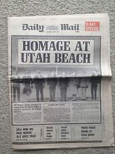 Daily Mail newspaper 7th June 1984. D-Day anniversary. Zola Budd