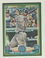 2019 Topps Gypsy Queen GREENPARALLEL #147 RAFAEL DEVERS Boston Red Sox RETAIL