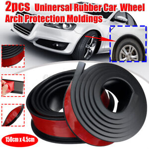 150*4.5CM Universal Car Wheel Arch Trim Fender Flares Protection Strip Rubber